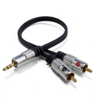 Fisual 30cm 3.5mm Jack to Phono Cable