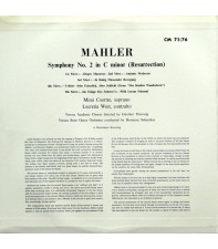 "LP Gustav Mahler - Symphony No 2 ""The Resurrection"""