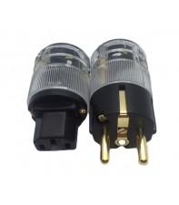 Cетевая аудиовилка и кабельный разъем типа IEC AirBase FT-01
