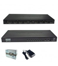 Сплиттер HDMI AirBase IB-318 1x8 HDMI 1.3 Splitter 1080P 3D Support