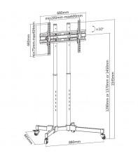 Напольная стойка под ТВ iTechmount T1028TE