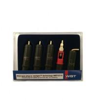 Комплект RCA разъёмов WBT-0114 Cu KIT (4 шт)