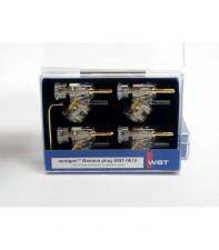 Комплект акустических бананов WBT-0610 Cu KIT (4 шт)