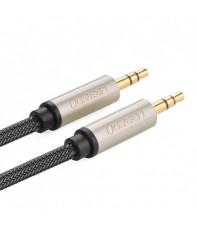 Межблочный кабель UGREEN AV125 3.5 mm to 3.5 mm Audio Cable Braided, 3 m Gray 10605