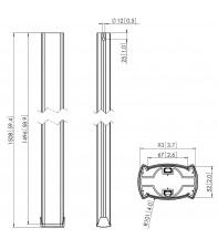 Дополнительная труба Vogel's Prof PUC2515 Silver Black