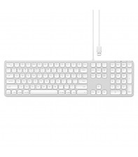 Проводная клавиатура Satechi Aluminum USB Wired Keyboard Silver US (ST-AMWKS)