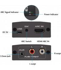 Конвертер HDMI ARC в аналоговое аудио AirBase BL-HDMI-ARC