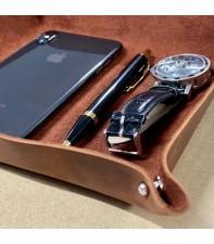 Кожаный органайзер для хранения Boset Brown