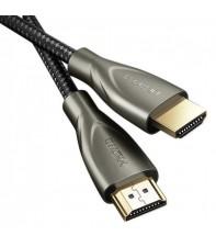 Кабель UGREEN HD131 HDMI to HDMI, 1 m, v2.0 UltraHD 4K-3D Braided Nylon Gray