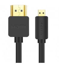 Межкомпонентный кабель Ugreen HD127 microHDMI to HDMI, v 2.0 UltraHD 4K-3D Black, 1 м 30148