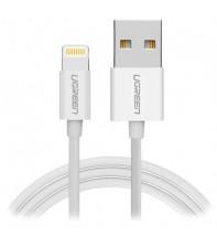 Межкомпонентный кабель Ugreen US155 USB-A 2.0 - Lightning, MFI, Nickel Plated White 1 м