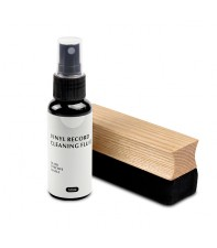 Набор для чистки виниловых пластинок Goka GK-R46 Ash wooden brush record cleaning care kit(2in1)