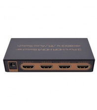Коммутатор 3x1 (switch) HDMI сигнала V2.0 4К AirBase K-SW314K