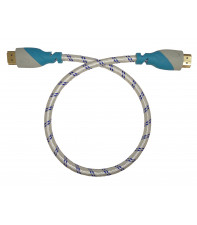 Кабель HDMI v1.4 Aurum 0.45 м Black-Blue (AU-1.5)